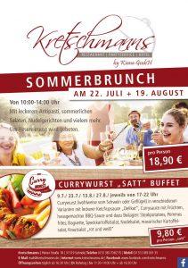 """Sommerbrunch, Kretschmanns, Sehnde, Currywurst """"satt"""""""